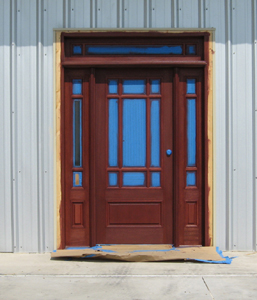 Texas Timber Wolf workshop construction - Front Door.
