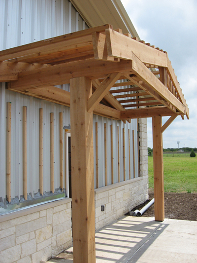 Texas Timber Wolf workshop construction - Porch.