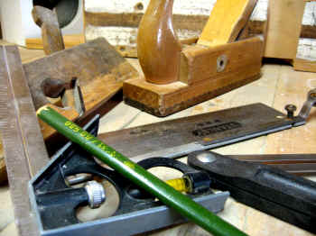Woodworking and carpentry tools still life by Texas Timber Wolf.