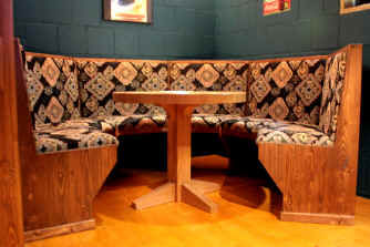 Dining Booth with table by Texas Timber Wolf
