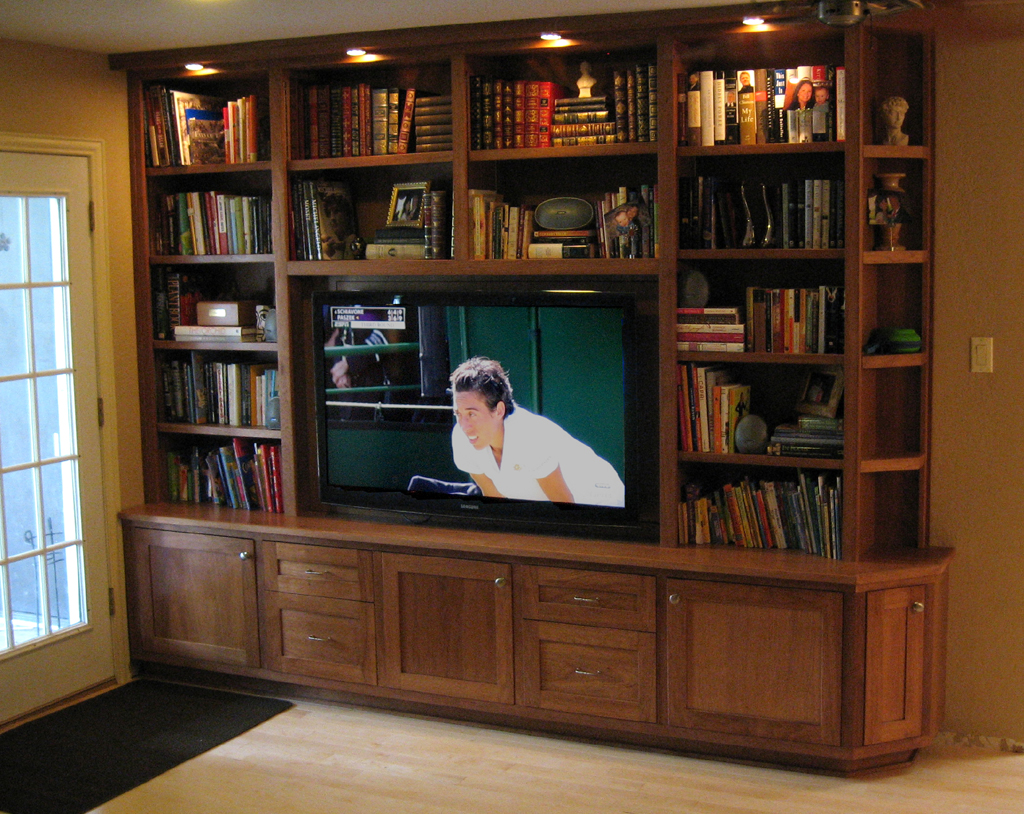 Large 8 X 10 Entertainment Center And Library