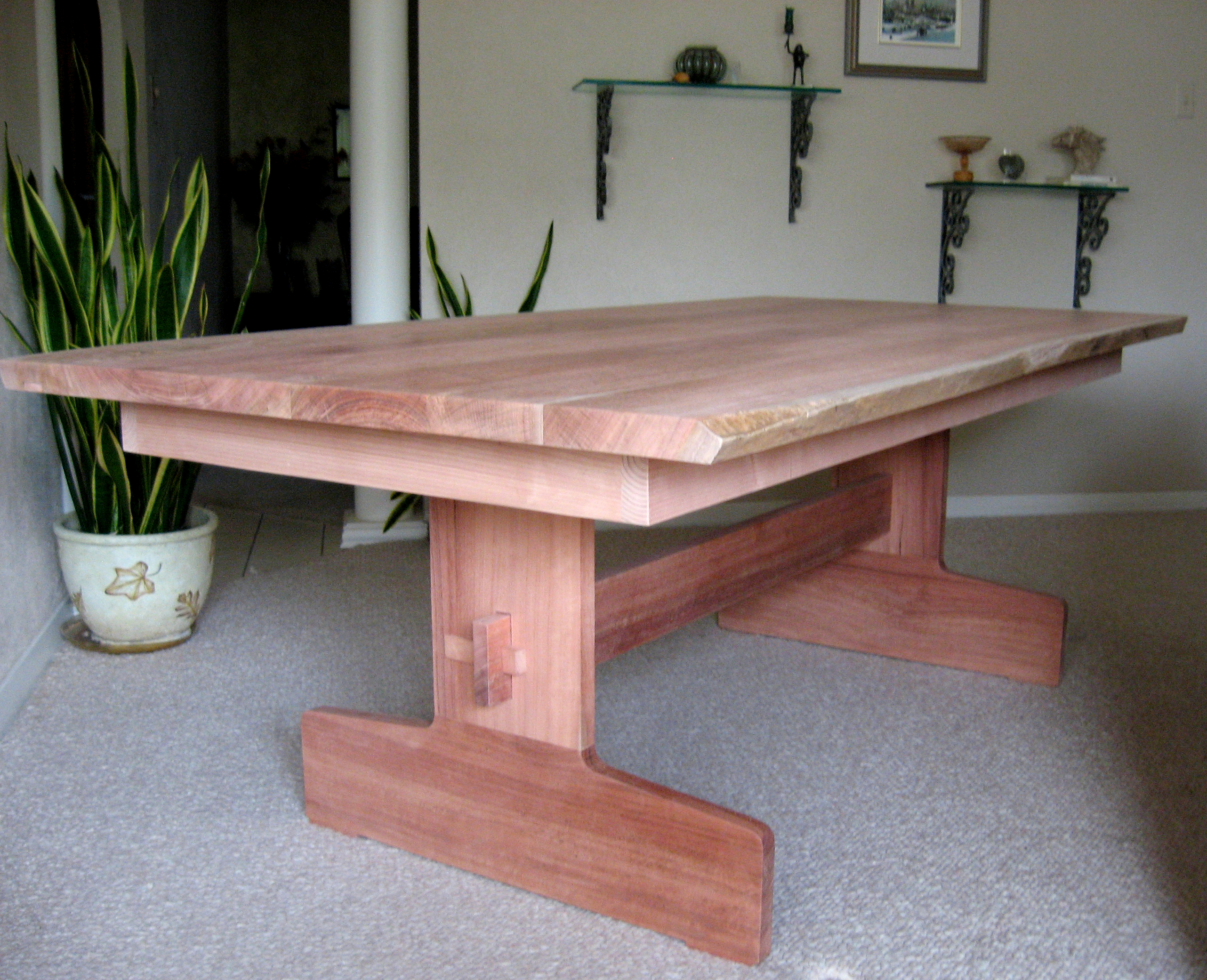 Dining Wood Table: Jarrah Wood Dining Table