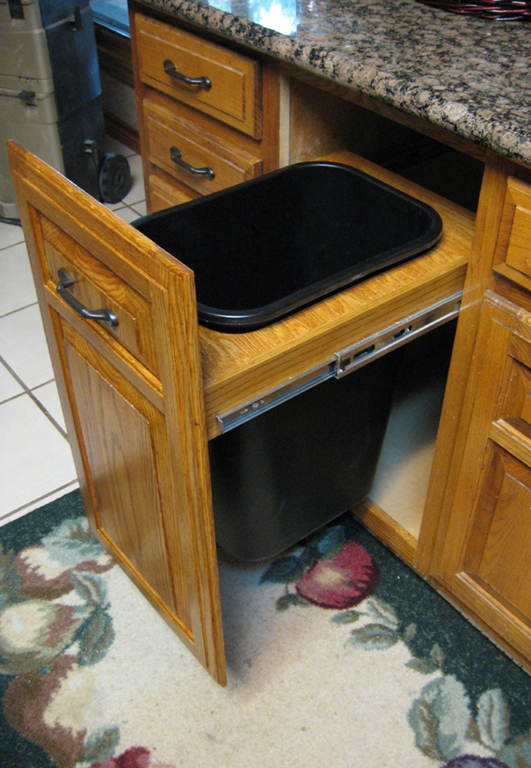 New Pull Out Trash Can Adds Life To Tired Cabinets Or Replaces Worn