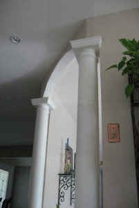 Columns add a sense of scale and solidity to your home.
