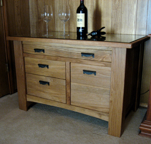 Woodworking Services by Texas Timber Wolf - Wine Serving Table